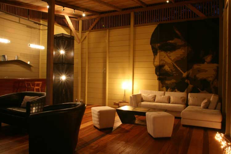 Living room Hamadryade Lodge - Lodges Ecuador